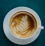 Heißer Lattekaffee Stockfoto