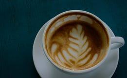Heißer Lattekaffee stockbild