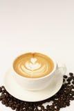 Heißer Lattekunstkaffee Lizenzfreie Stockfotografie