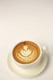 Heißer Lattekunstkaffee Lizenzfreies Stockfoto