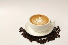 Heißer Lattekunstkaffee Lizenzfreie Stockbilder