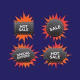 Heißer Preis und Verkauf, Abkommen und Angebot, spezielles Tag oder Ausweis Heiße PR lizenzfreie abbildung