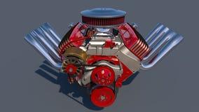 Heißer Rod-Motor 3d übertragen Stockfoto