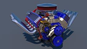 Heißer Rod-Motor 3d übertragen Lizenzfreie Stockbilder
