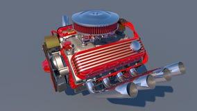 Heißer Rod-Motor 3d übertragen Lizenzfreies Stockfoto