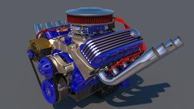 Heißer Rod-Motor 3d übertragen Lizenzfreie Stockfotografie
