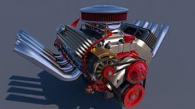 Heißer Rod-Motor 3d übertragen Stockfotos