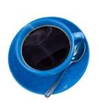 Heißer schwarzer Kaffee im Cup, getrennt. Lizenzfreie Stockbilder