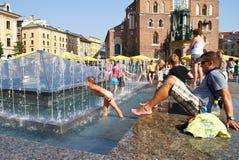 Heißer Sommer in der Stadt Lizenzfreie Stockfotografie
