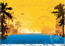 Heißer Sommerhintergrund Stockbilder