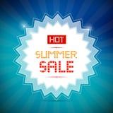 Heißer Sommerschlussverkauf-Titel Lizenzfreie Stockbilder