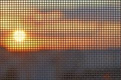 Heißer Sonnenuntergang Lizenzfreies Stockfoto