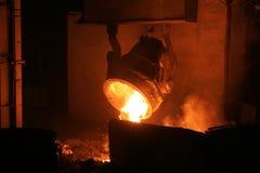 Heißer Stahl stockfotografie