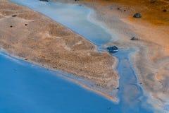 Heißer Strom am geothermischen Bereich in Island Stockfoto