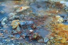 Heißer Strom am geothermischen Bereich in Island Lizenzfreies Stockfoto