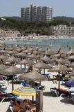 Heißer Tag auf dem Strand Stockbild