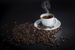 Heißer Tasse Kaffee Stockbild