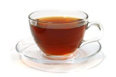 Heißer Tee innerhalb des Glases Lizenzfreies Stockfoto