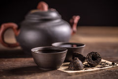 Heißer Tee PU-erh Stockfotografie