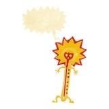 heißer Thermometer der Karikatur mit Spracheblase Stockbilder