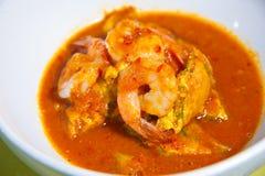 Heißer und saurer Curry mit Tamarindesoße (kang Som) Lizenzfreies Stockbild