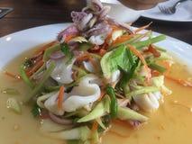 Heißer und würziger Salat Lizenzfreies Stockbild