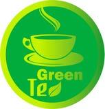 Heißes Blatt des grünen Tees des Logos Lizenzfreies Stockfoto