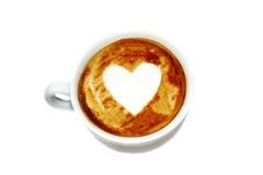 heißes Cafégetränk Liebe caffee drinke Herzens stockbild