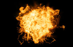 Heißes Feuer auf Schwarzem Stockfotografie