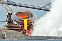 Heißes flüssiges Eisen lizenzfreie stockbilder