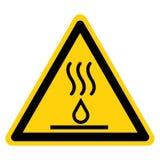Heißes Flüssigkeits-Symbol-Zeichen-Isolat auf weißem Hintergrund, Vektor-Illustration stock abbildung