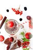 Heißes Getränk des Apfelsaft-Herbstes Lizenzfreie Stockbilder