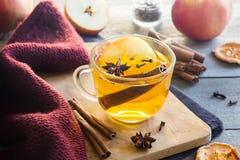 Heißes Getränk mit Apfel lizenzfreie stockfotografie