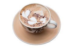 Heißes Kaffeekunst-Motivherz lizenzfreies stockfoto