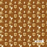 Heißes Kaffeetasse-Vektormuster Lizenzfreie Stockbilder