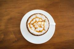 Heißes latte lizenzfreie stockfotografie