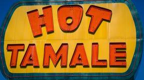 Heißes Neonzeichen der gefüllten Maismehltasche Lizenzfreie Stockfotos