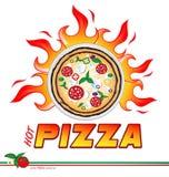 heißes Pizzaprojekt Stockfoto