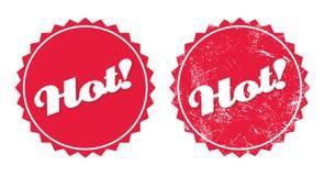 Heißes Produkt Retro- grunge Abzeichen lizenzfreie abbildung