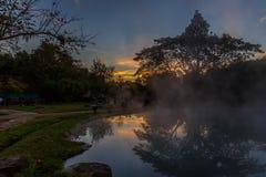 Heißes Quellenwasser Stockfoto