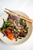 Heißes Rindfleisch und Gemüse Lizenzfreies Stockbild