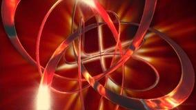 Heißes rotes Metall der glänzenden Lichter vektor abbildung