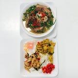 Heißes und würziges thailändisches Lebensmittel Stockbilder