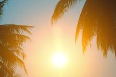 Heißes Wetter, Wolken schauen vor Sonnenuntergang bunt lizenzfreies stockfoto