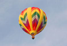 Heißluft-Ballon Stockfotografie