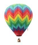 Heißluft-Ballon auf Weiß Lizenzfreie Stockfotos