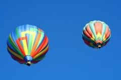 Heißluft-Ballon-Duo Lizenzfreie Stockfotos