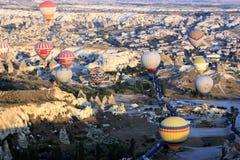 Heißluft-Ballon-Fahrt, Cappadocia Stockbilder