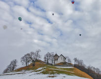 Heißluft-Ballon-Festival 2012, die Schweiz Lizenzfreie Stockbilder