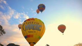 Heißluft-Ballon, internationales Ballon-Festival stock video footage